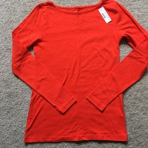 NWT JCrew Orange Painter T-shirt